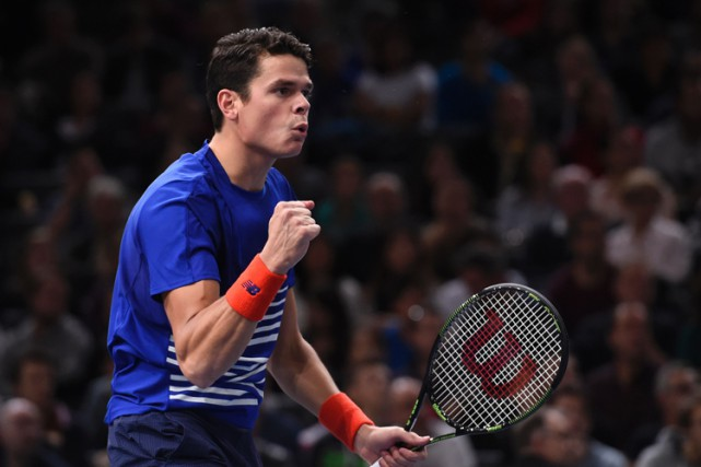 Milos Raonic... (PHOTO AFP)