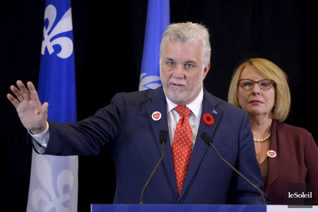 À l'Assemblée nationale, le premier ministre Philippe Couillard... (Le Soleil, Yan Doublet)