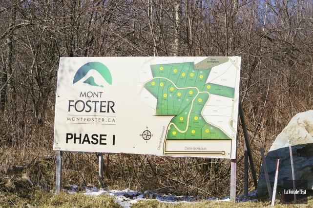 Le projet initial dans le mont Foster prévoyait... (Archives La Voix de l'Est)