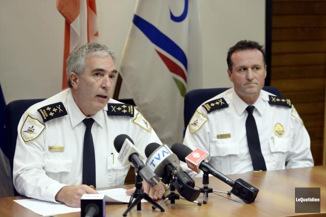 Denis Boucher, chef de police de Saguenay et... (Photo Le Quotidien, Jeannot Lévesque)