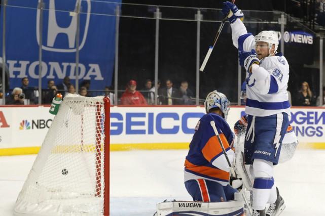 Nikita Kucherov a inscrit deux buts et amassé deux mentions d'aide, Ben Bishop... (PHOTO AP)