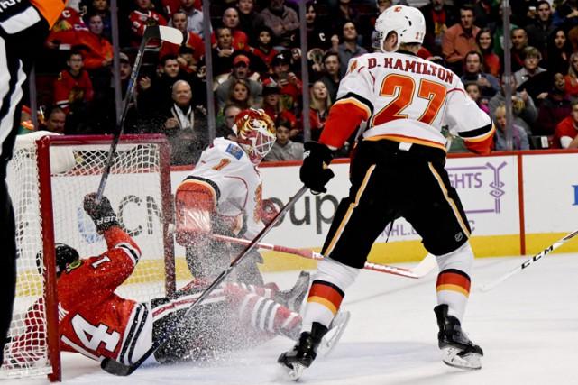 Patrick Kane a récolté un but et deux aides et les Blackhawks de Chicago ont... (PHOTO AP)