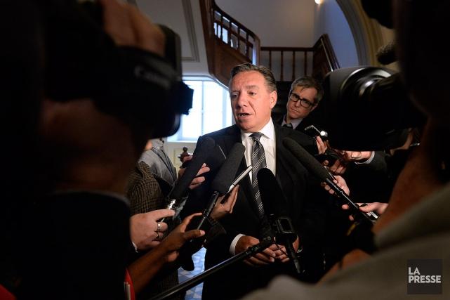 Le chef de la Coalition avenir Québec (CAQ)... (PHOTO BERNARD BRAULT, ARCHIVES LA PRESSE)