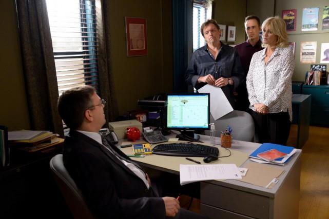 Denis Filion(François L'Écuyer),Marc Trudeau (Vincent Graton),Laurent Trudeau (Renaud... (PHOTO FOURNIE PAR ICI RADIO-CANADA TÉLÉ)