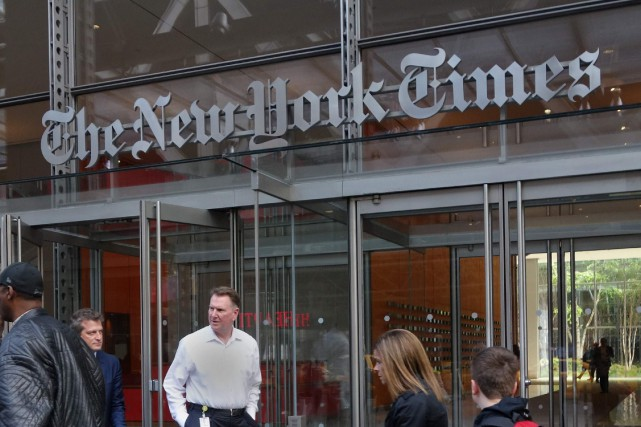 Le bénéfice du groupe New York Times a... (Photo Don Emmert, AFP)