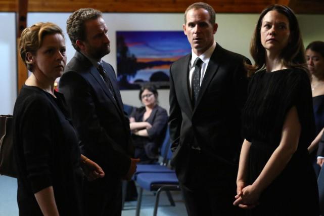 Maude Guérin, Daniel Brière, Alexandre Goyette et Fanny... (Photo fournie par ICI Radio-Canada.)