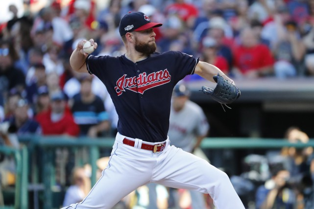L'as partant des Indians Corey Kluber pourrait devenir le... (PHOTO Rick Osentoski, USA Today Sports)