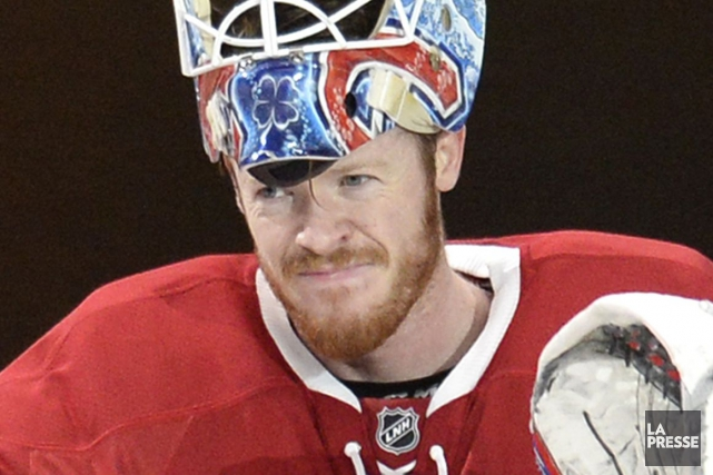 Mike Condon dans l'uniforme du Canadien en février... (Photo Bernard Brault, archives La Presse)