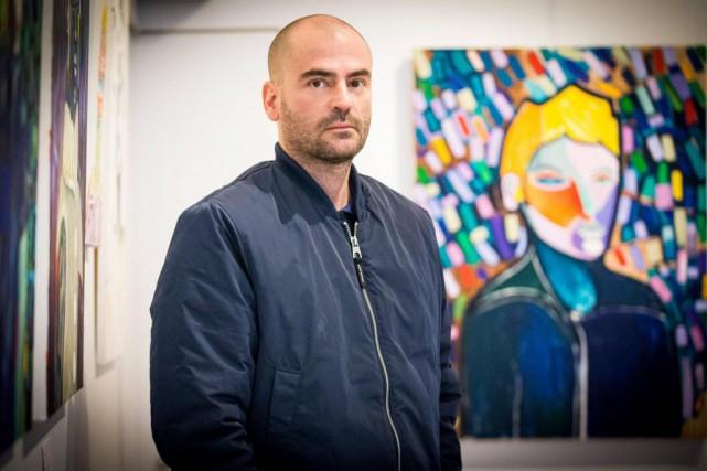 Le peintre de Québec Frédéric Bruneau expose en... (Photo Olivier Jean, La Presse)