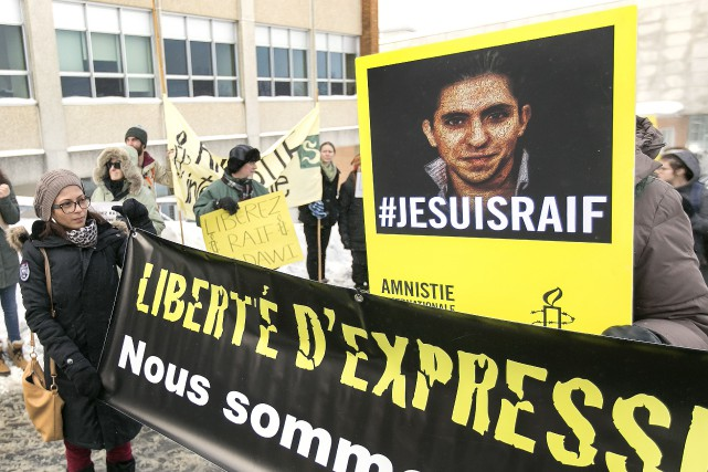 Le dossier humanitaire de Raif Badawi, dont l'épouse... (Archives, La Tribune)