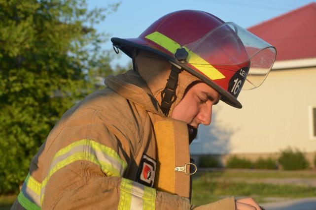 Sébastien Lalonde est pompier à temps partiel, ce... (Facebook)