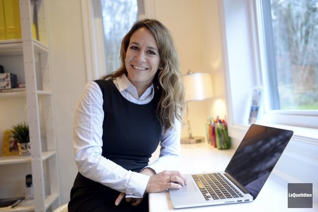 L'entrepreneure Julie Dufresne fait partie de la première... (Photo Le Quotidien, Jeannot Lévesque)