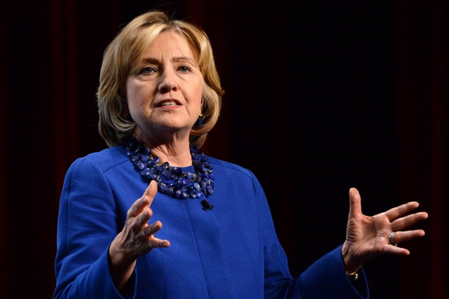 Hillary Clinton lors de son allocution le 6 octobre... (Archives, La Presse canadienne)