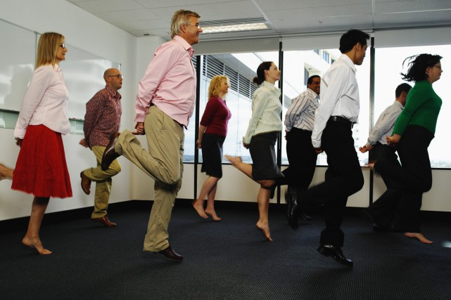 Les gens qui sont en bonne forme physique résistent ensuite mieux au stress au... (PHOTO THINKSTOCK)