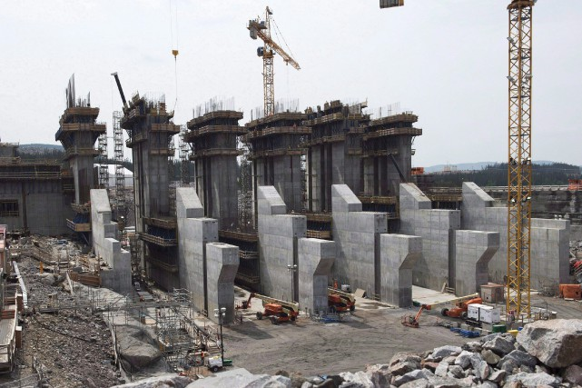 Le chantier de Muskrat Falls.... (Archives, La Presse canadienne)