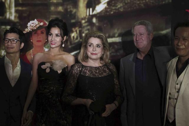Catherine Deneuve étaitde retour à Hanoï pour le... (AFP, Jacques Smit)