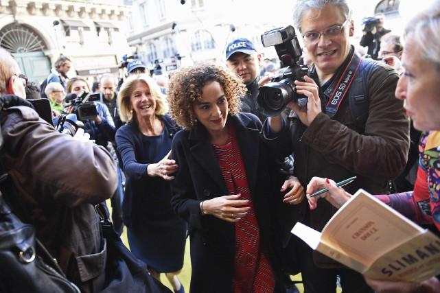 La Franco-Marocaine Leïla Slimani a reçu le prix... (AFP, Martin Bureau)