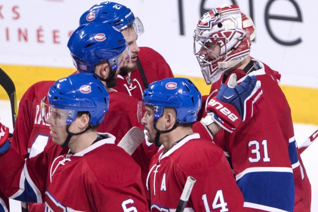 Les joueurs du Canadien avaient retrouvé le sourire jeudi matin, au lendemain... (Archives Presse Canadienne)