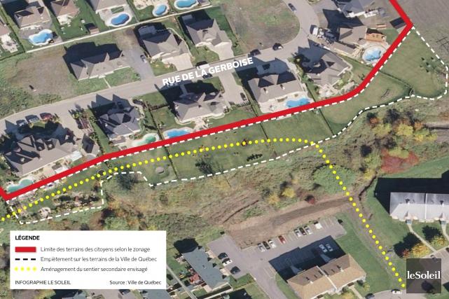 CHRONIQUE /La Ville de Québec vient d'avaliser la vente de six terrains qui... (Infographie Le Soleil)