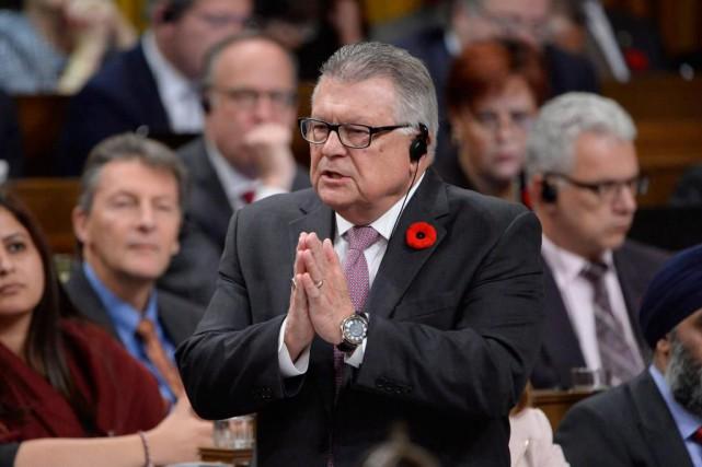 Le ministre de la Sécurité publique, Ralph Goodale,... (La Presse Canadienne, Adrian Wyld)