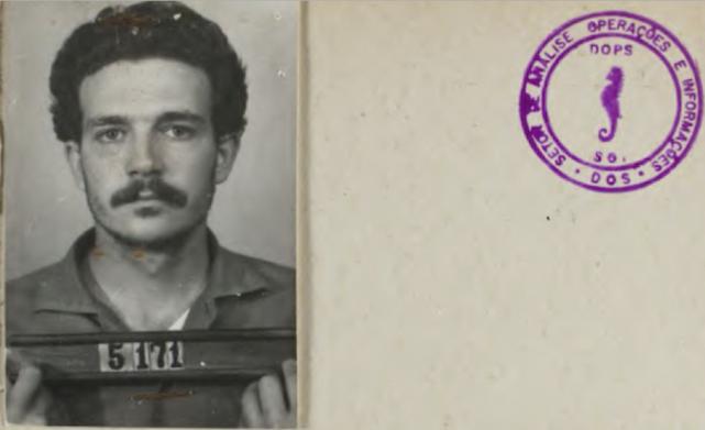 Fiche des forces de sécurité brésiliennes sur Lúcio... (photo archives publiques de l'État de Sao Paolo via BBC)