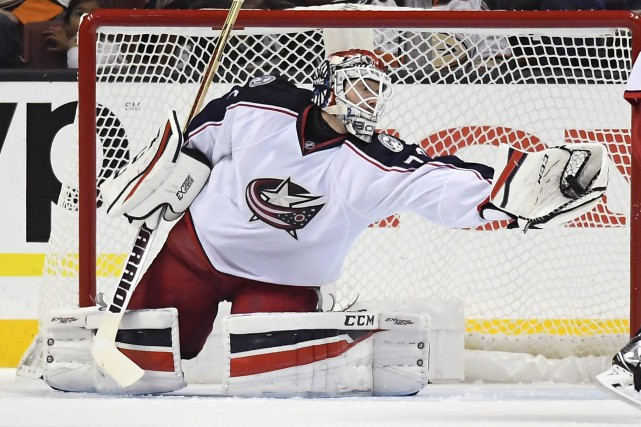 Le gardien des Blue Jackets Sergei Bobrovsky a maintenu... (Photo Mark J. Terrill, AP)