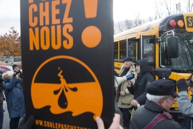 Plus d'une centaine de manifestants de la région... (Stéphane Lessard)