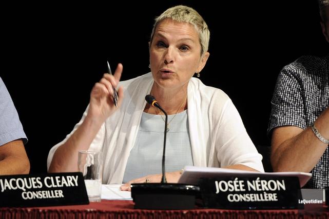 La chef de l'Équipe du renouveau démocratique, Josée... (Archives Le Quotidien, Mariane L. St-Gelais)