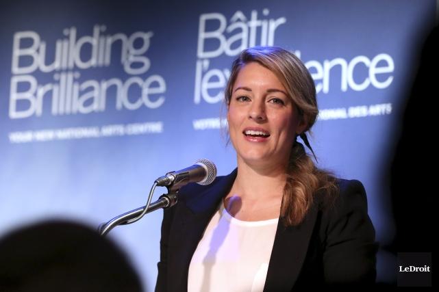 La ministre du Patrimoine canadien, Mélanie Joly... (Patrick Woodbury, LeDroit)