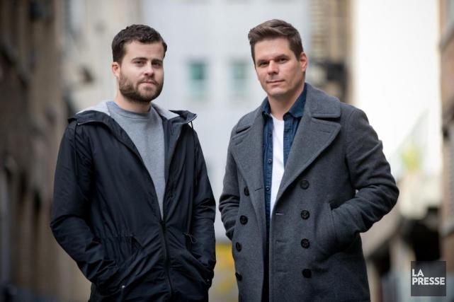 Vincent Larouche et Patrick Lagacé ont été placés... (Photo David Boily, La Presse)