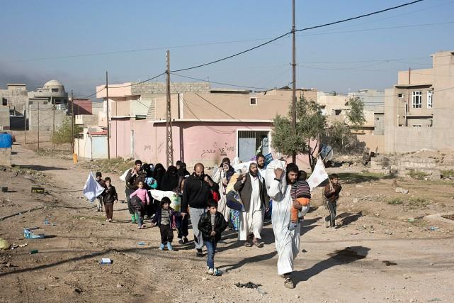 Le nombre de déplacés par les combats ne... (Photo Marko Drobnjakovic , AP)