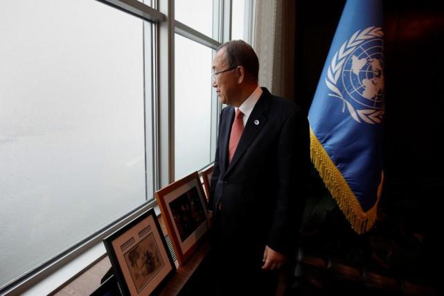 Ban Ki-moon,secrétaire général de l'ONU... (PHOTO Carlo Allegri, archives Reuters)