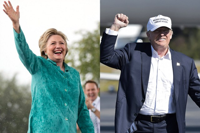 Hillary Clinton et Donald Trump... (PHOTOS AP ET AFP)