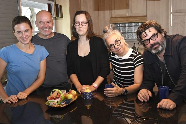 Vicky Côté, Serge Potvin, Andrée-Anne Giguère, Guylaine Rivard... (Archives Le Progrès-Dimanche)