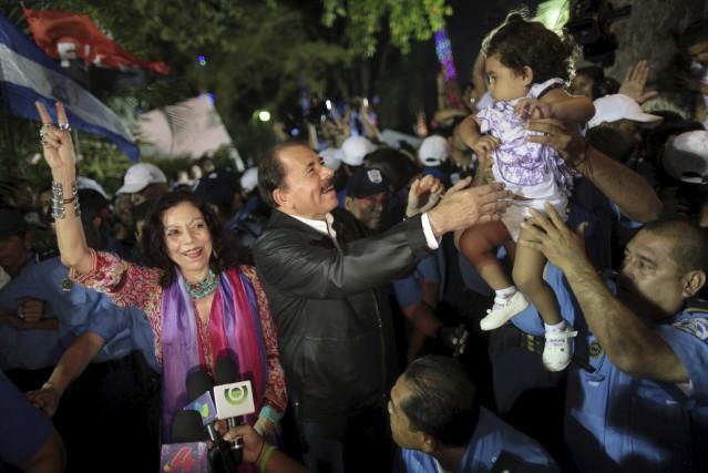 Rosario Murillo et Daniel Ortega... (AP)