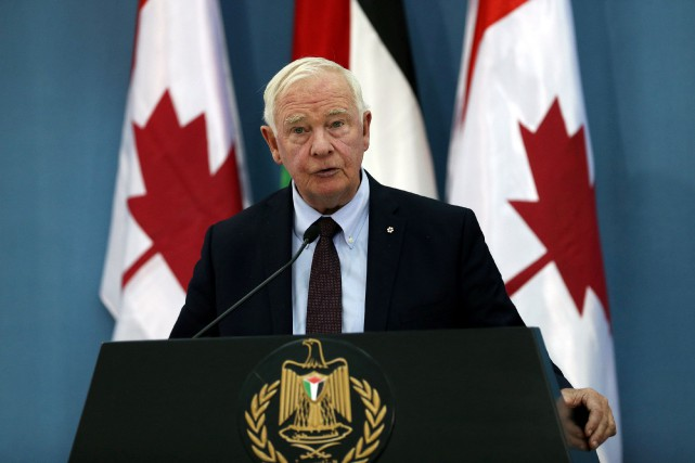 Lors d'une entrevue à Jérusalem, David Johnston a... (REUTERS)