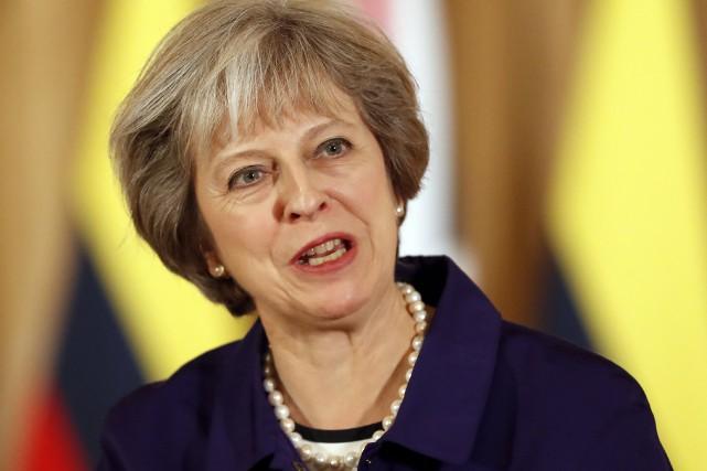 La première ministre Theresa May.... (AP)