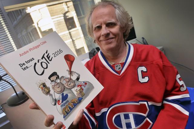 André-Philippe Côté, revêtu du chandail du Canadien, dans... (Le Soleil, Patrice Laroche)