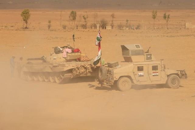 Les forces de sécurité irakiennes.... (Photo Thaier Al-Sudaini, Reuters)