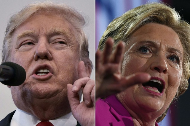 Donald Trump et Hillary Clinton.... (Photos Mandel Ngan et Jewel Samad, Agence France-Presse)
