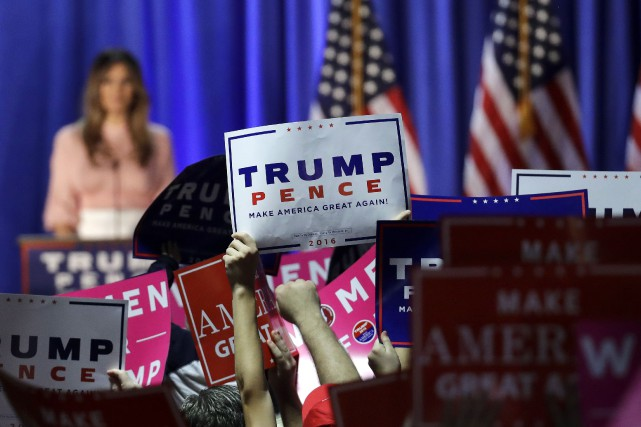 Melania Trump s'est invitée dans le bastion démocrate... (AP, Patrick Semansky)