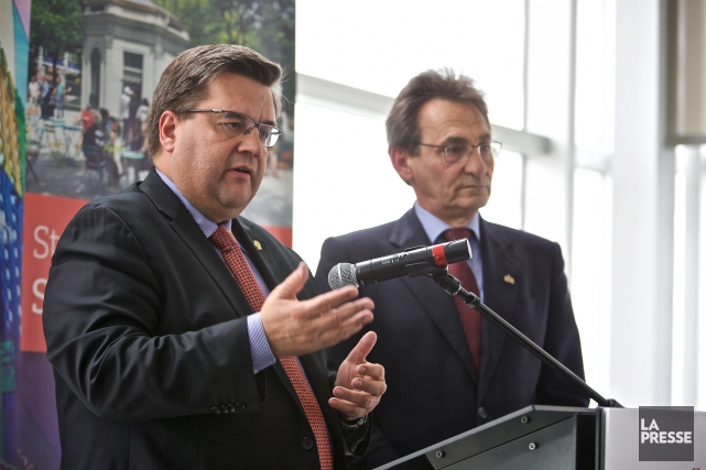 Denis Coderre et Richard Bergeron.... (Photo archives La Presse)