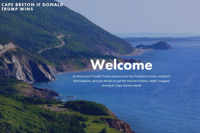 Le site web «Cape Breton if Donald Trump... (ARCHIVES PC)