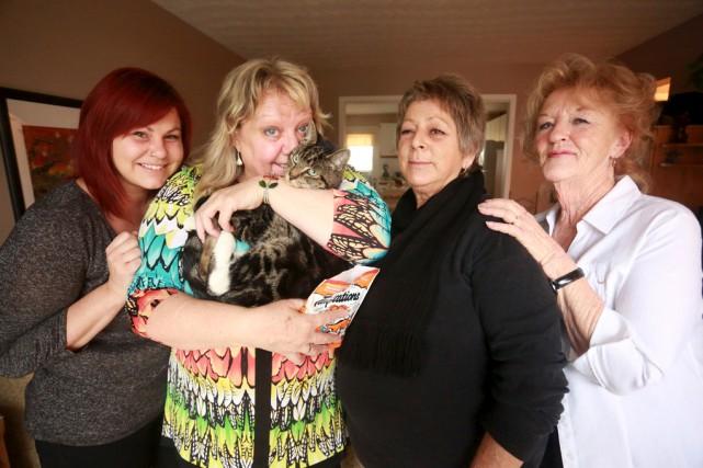 Nancy Déragon, Carole Groleau, France Proulx et Velma... (Catherine Trudeau)