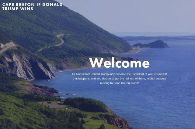 L'image d'accueil du site web... (La Presse Canadienne)