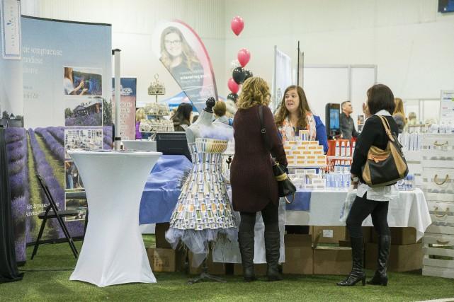 Le Salon féminin pluriel, qui se tenait au... (Spectre média, Marie-Lou Béland)