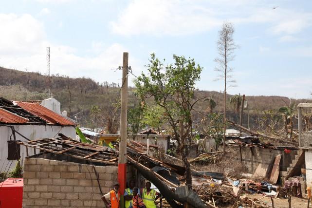 L'ouragan Matthew a détruit ou endommagé plusieurs immeubles... (La Presse)