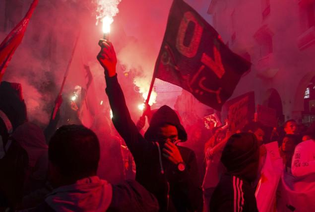 Près d'un millier de personnes ont manifesté dimanche... (AFP, Fadel Senna)