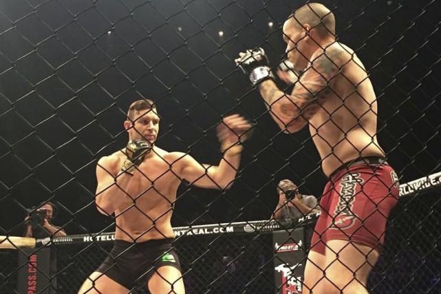 À son premier combat en cinq ans,Yan Pellerin... (fournie par TKO MMA)