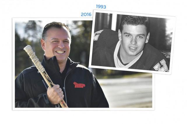 L'ex-porte-couleurs des Harfangs, Simon Toupin, est aujourd'hui gestionnaire... (Le Soleil, Patrice Laroche et Archives Le Soleil)
